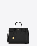 Classic Small Sac De Jour Bag In Black Leather