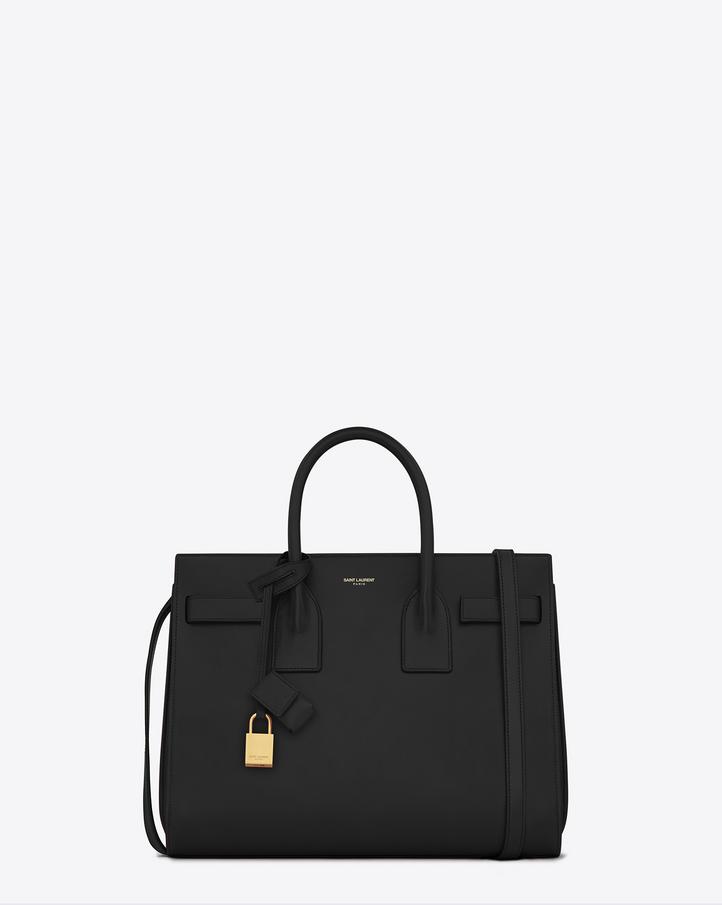 saint laurent classic small sac de jour bag in black. Black Bedroom Furniture Sets. Home Design Ideas