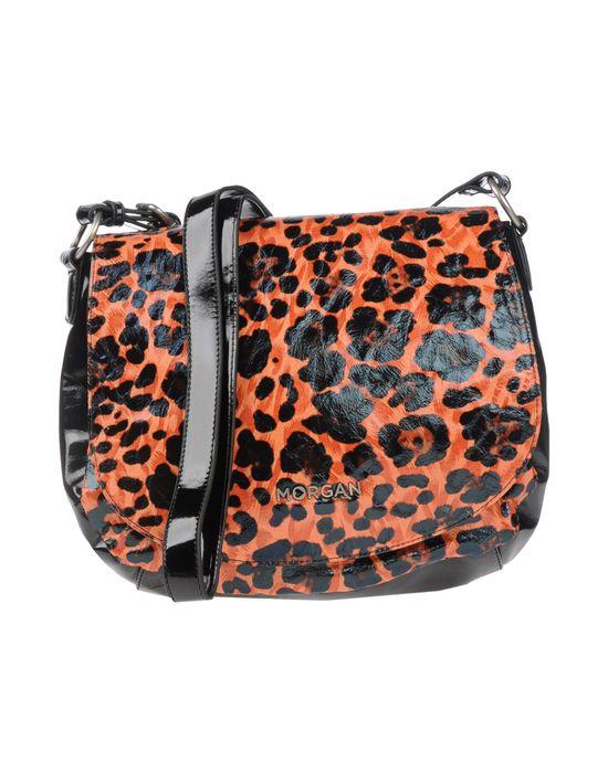 Сумка через плечо MORGAN за 5200 руб, цвет ржаво-коричневый, материал пвх. сумки через плечо, средний размер, эффект...