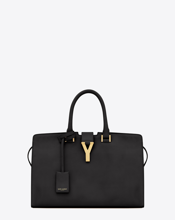 Saint Laurent Classic Cabas Y Bag In Black Leather | YSL.com