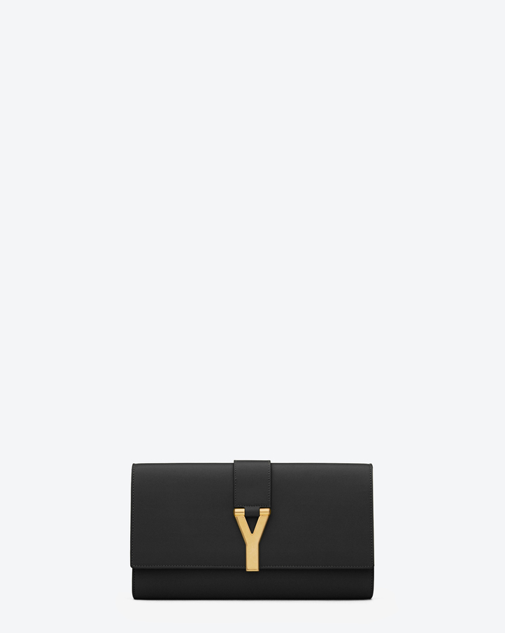Saint Laurent Classic Y Clutch In Black Leather | YSL.com
