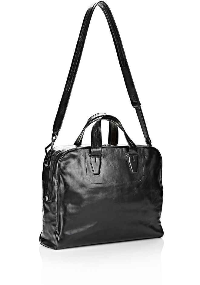ALEXANDER WANG BRIEFCASE IN WAXY BLACK WITH MATTE BLACK Travel Adult 12_n_a