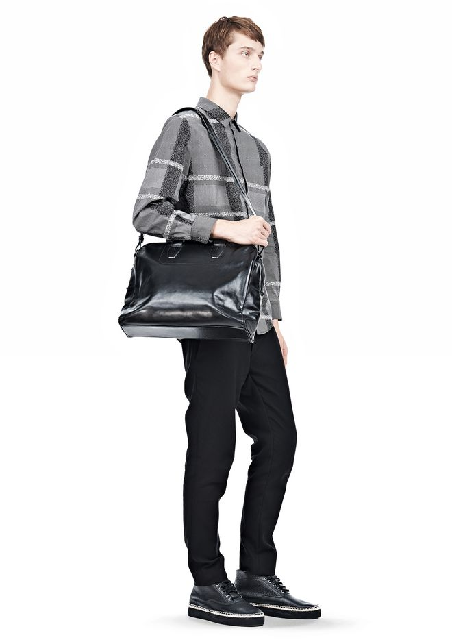 ALEXANDER WANG BRIEFCASE IN WAXY BLACK WITH MATTE BLACK Travel Adult 12_n_r