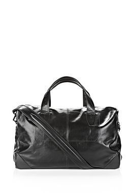 WALLIE DUFFLE IN WAXY BLACK WITH MATTE BLACK