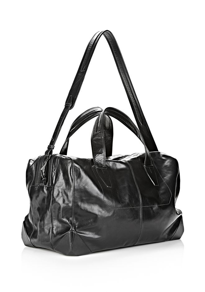 ALEXANDER WANG WALLIE DUFFLE IN WAXY BLACK WITH MATTE BLACK Travel Adult 12_n_a
