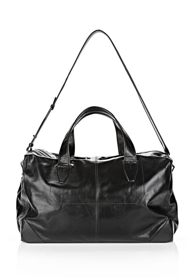 ALEXANDER WANG WALLIE DUFFLE IN WAXY BLACK WITH MATTE BLACK Travel Adult 12_n_e