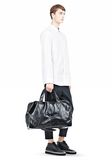 ALEXANDER WANG WALLIE DUFFLE IN WAXY BLACK WITH MATTE BLACK Travel Adult 8_n_r