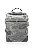 ALEXANDER WANG WALLIE BACKPACK IN DISTRESSED BLACK WITH RHODIUM BACKPACK Adult 8_n_a