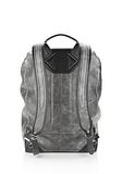 WALLIE BACKPACK IN DISTRESSED BLACK WITH RHODIUM