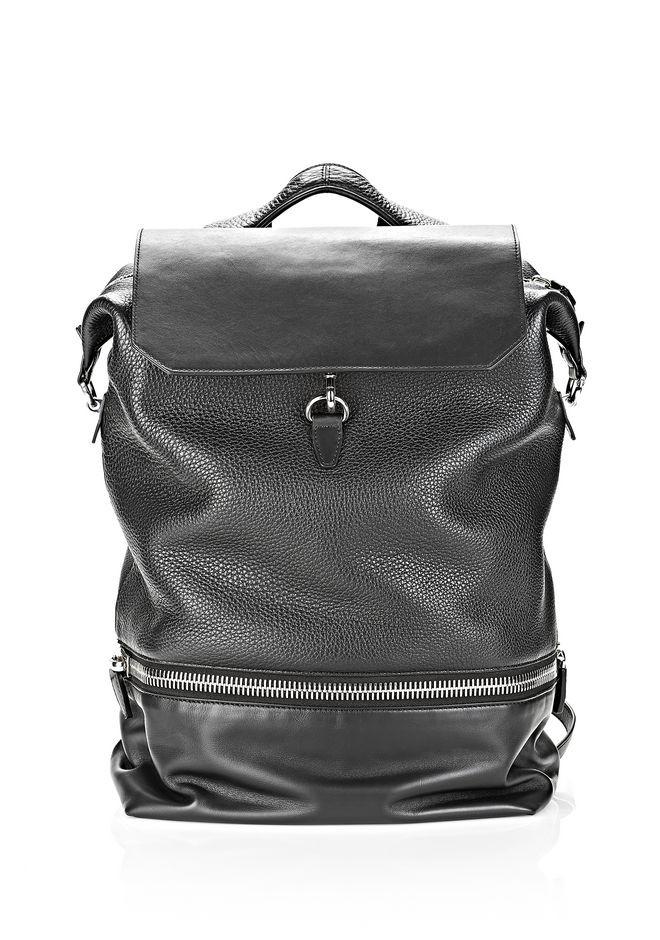 ALEXANDER WANG EXPLORER BACKPACK IN BLACK WITH RHODIUM BACKPACK Adult 12_n_a