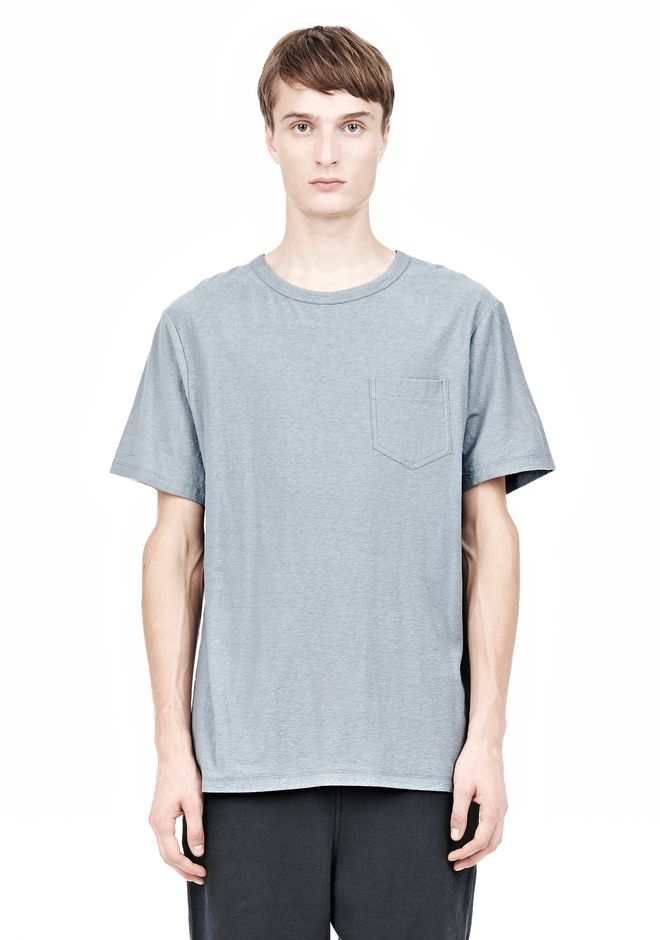 T by ALEXANDER WANG SLUB COTTON JERSEY TEE WITH CHEST POCKET TEE Adult 12_n_e