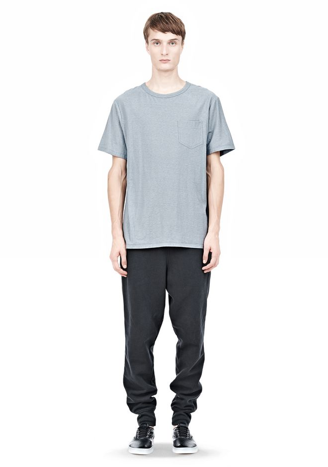 T by ALEXANDER WANG SLUB COTTON JERSEY TEE WITH CHEST POCKET