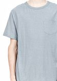 T by ALEXANDER WANG SLUB COTTON JERSEY TEE WITH CHEST POCKET TEE Adult 8_n_a