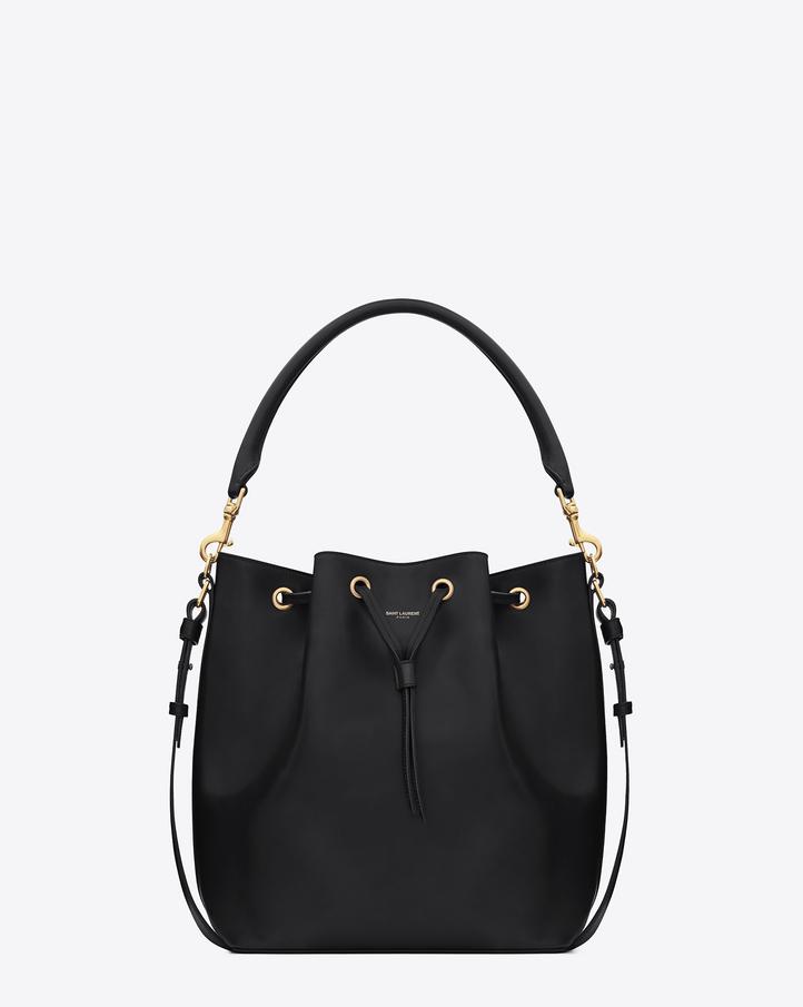 Saint Laurent Medium Emmanuelle Bucket Bag Nera In Pelle | YSL.com