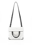ALEXANDER WANG EXCLUSIVE PRISMA LUNCH BAG IN CHALK WITH MATTE BLACK Shoulder bag Adult 8_n_f