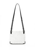 ALEXANDER WANG EXCLUSIVE PRISMA LUNCH BAG IN CHALK WITH MATTE BLACK Shoulder bag Adult 8_n_r