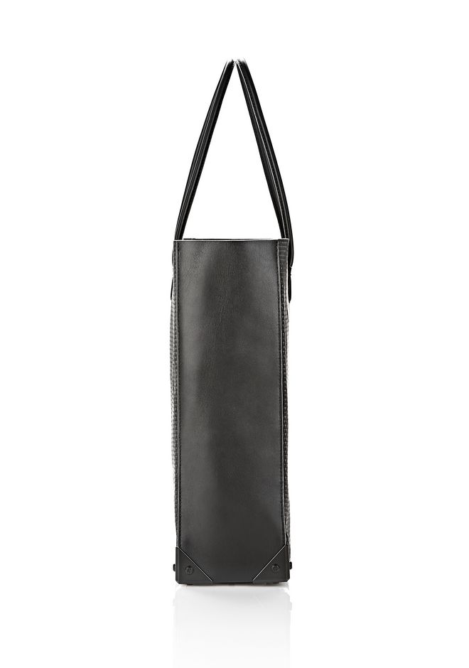 ALEXANDER WANG PRISMA TOTE IN BLACK WITH MATTE BLACK TOTE Adult 12_n_e
