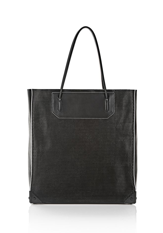 PRISMA TOTE IN BLACK WITH MATTE BLACK