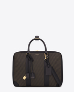 Classic Toile Monogram 12H Luggage in Black Printed Canvas and Leather