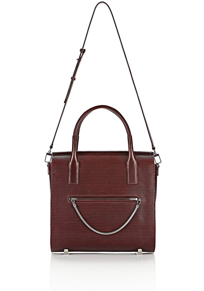 ALEXANDER WANG LARGE CHASTITY IN CORDOVAN WITH RHODIUM TOTE Adult 12_n_f
