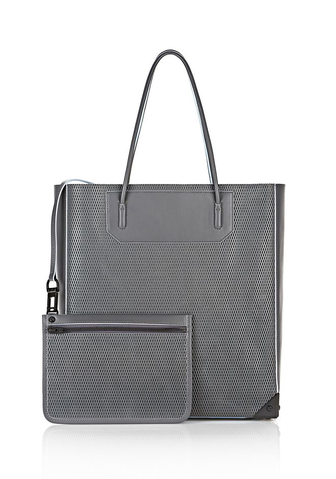 ALEXANDER WANG PRISMA TOTE IN EXHAUST WITH MATTE BLACK  TOTE Adult 12_n_a