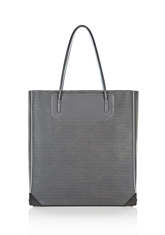 ALEXANDER WANG PRISMA TOTE IN EXHAUST WITH MATTE BLACK  TOTE Adult 12_n_f