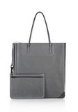 ALEXANDER WANG PRISMA TOTE IN EXHAUST WITH MATTE BLACK  TOTE Adult 8_n_a