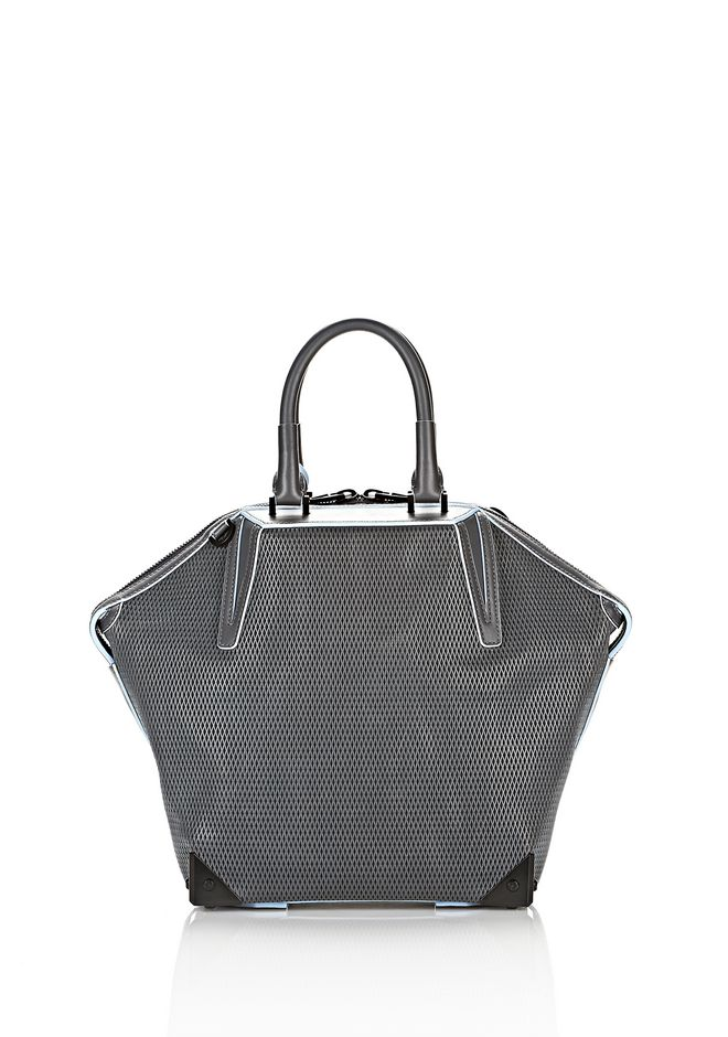 ALEXANDER WANG EMILE TOTE IN  EXHAUST WITH MATTE BLACK TOTE Adult 12_n_a
