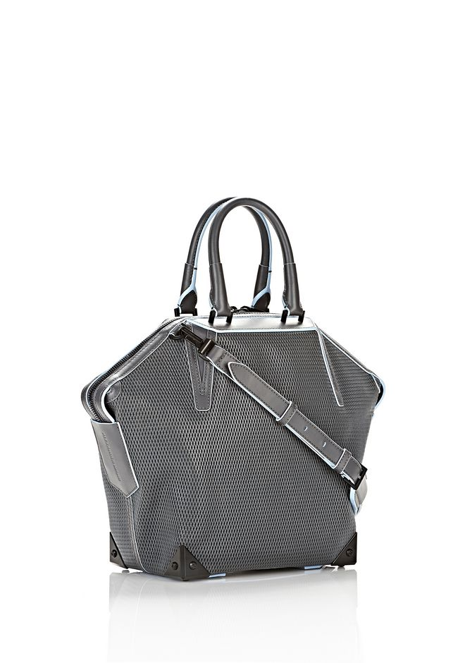 ALEXANDER WANG EMILE TOTE IN  EXHAUST WITH MATTE BLACK TOTE Adult 12_n_e