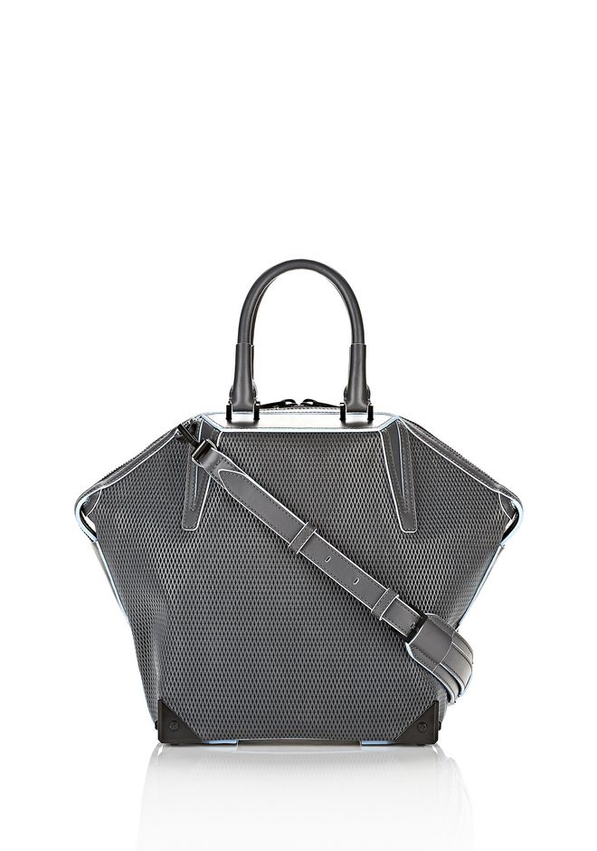 ALEXANDER WANG EMILE TOTE IN  EXHAUST WITH MATTE BLACK TOTE Adult 12_n_f