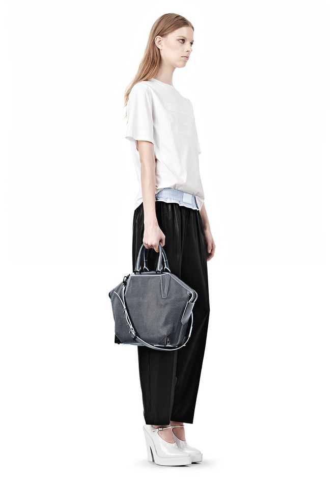ALEXANDER WANG EMILE TOTE IN  EXHAUST WITH MATTE BLACK TOTE Adult 12_n_r