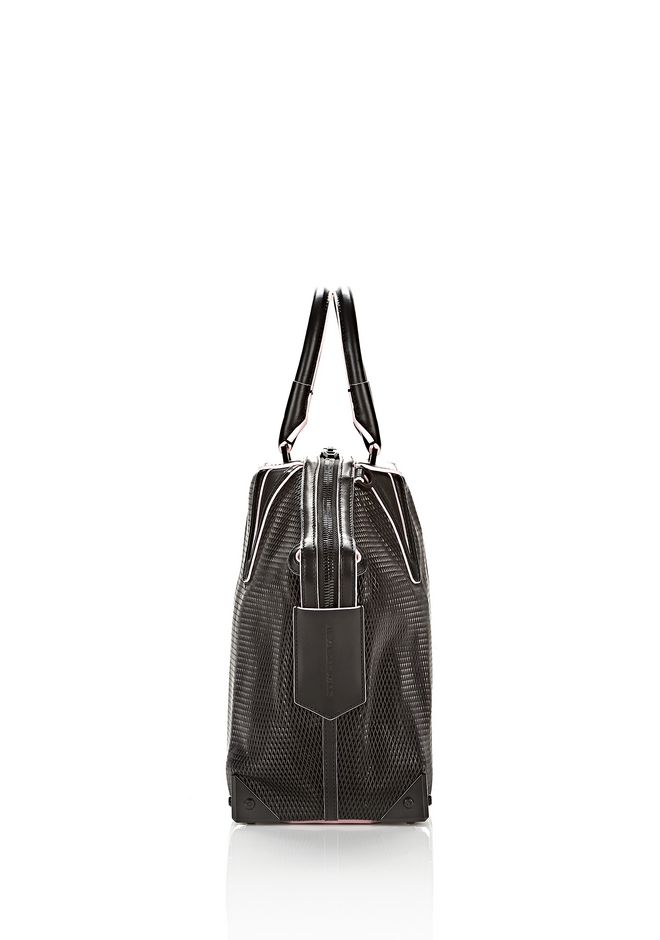 EMILE TOTE IN BLACK WITH MATTE BLACK