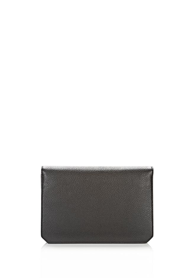ALEXANDER WANG PRISMA ENVELOPE IN BLACK WITH ROSE GOLD CLUTCH Adult 12_n_d