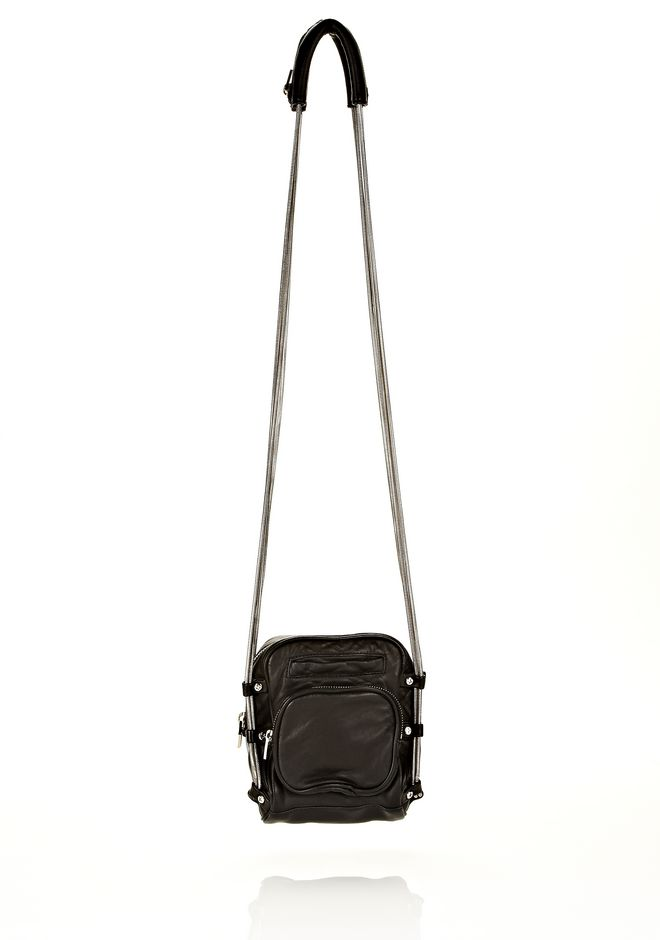ALEXANDER WANG Shoulder bags Women BRENDA CAMERA IN WASHED BLACK WITH RHODIUM