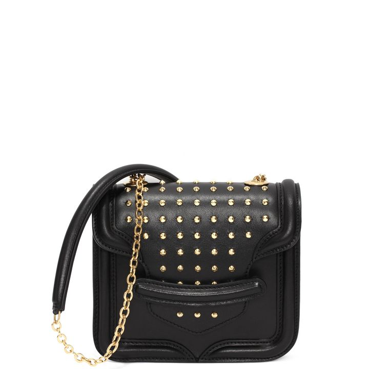 Alexander McQueen, Mini Spike Studded Heroine Chain Satchel