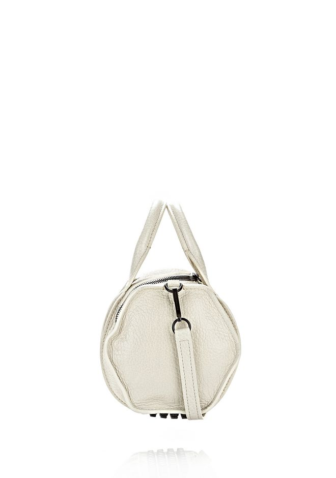 ALEXANDER WANG INSIDE-OUT ROCKIE IN CHALK WITH MATTE BLACK Shoulder bag Adult 12_n_e