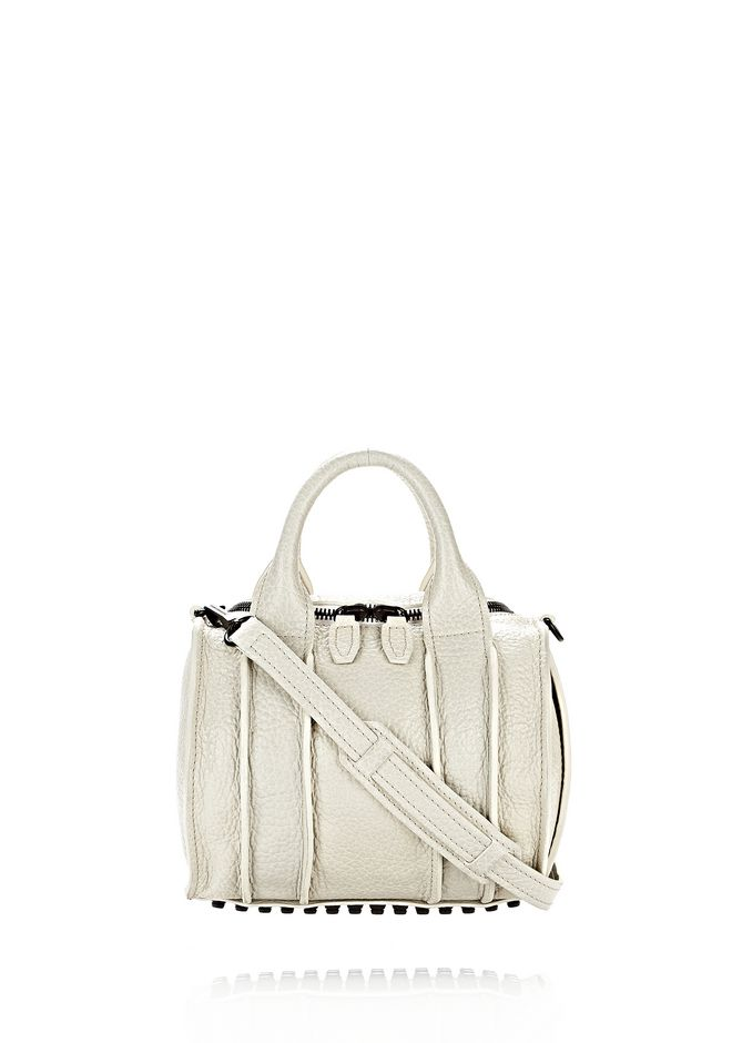 ALEXANDER WANG INSIDE-OUT ROCKIE IN CHALK WITH MATTE BLACK Shoulder bag Adult 12_n_f