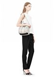 ALEXANDER WANG INSIDE-OUT ROCKIE IN CHALK WITH MATTE BLACK Shoulder bag Adult 8_n_r