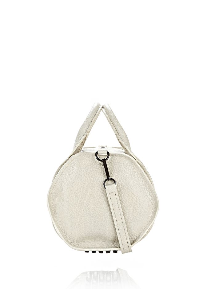 ALEXANDER WANG INSIDE-OUT ROCCO IN CHALK WITH MATTE BLACK Shoulder bag Adult 12_n_e