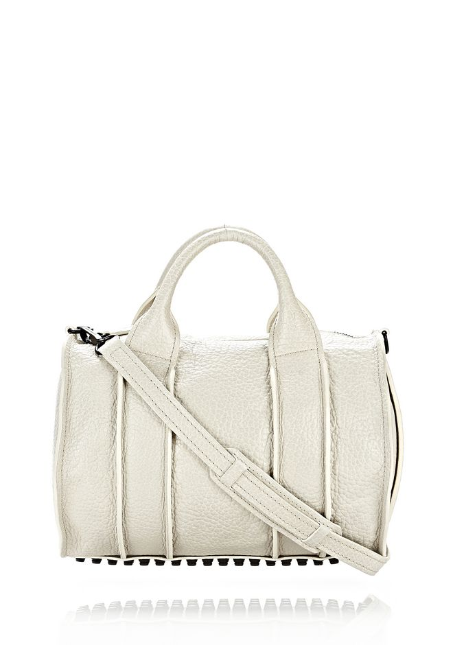 ALEXANDER WANG INSIDE-OUT ROCCO IN CHALK WITH MATTE BLACK Shoulder bag Adult 12_n_f