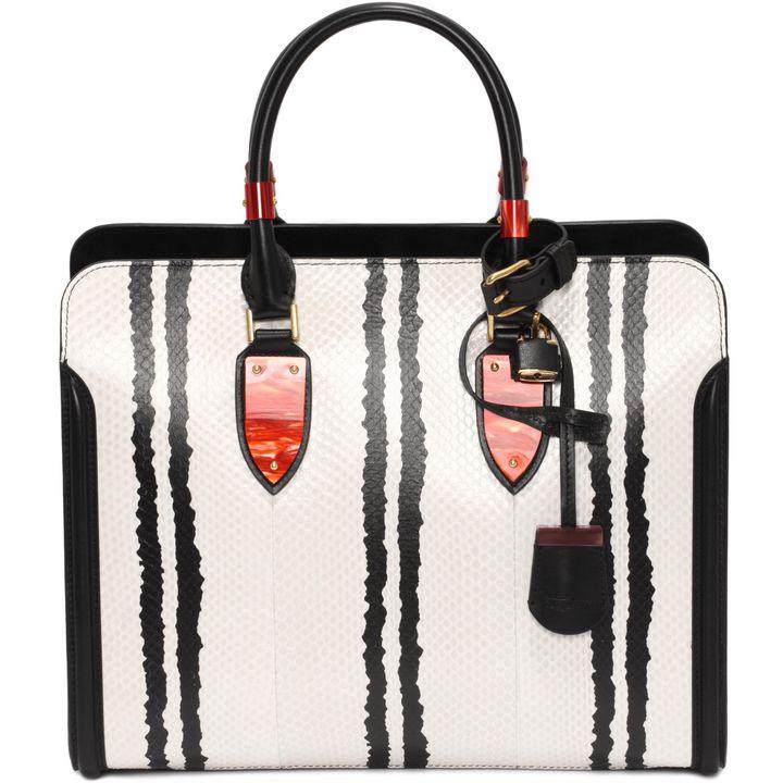 Alexander McQueen, Open Tote Bag Heroine Stampa Graphic Snake