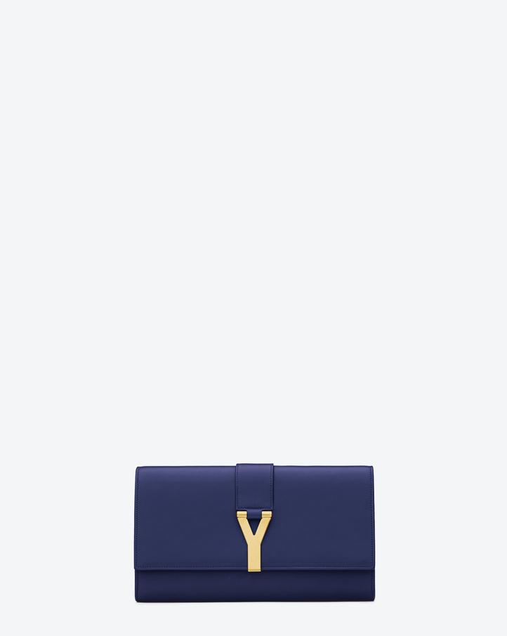 ysl clutch bag sale - Saint Laurent Classic Y Clutch In Blue Leather | YSL.com
