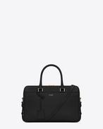 Klassische Duffle 6 Bag aus schwarzem Leder