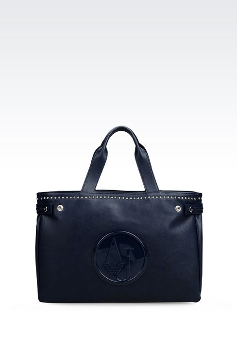 TOTE BAG IN ECO LEATHER: Top handles Women by Armani - 1