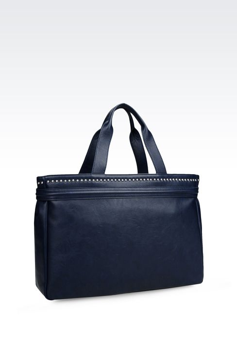 TOTE BAG IN ECO LEATHER: Top handles Women by Armani - 2