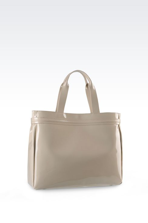 Shopping Bag in Patent Faux