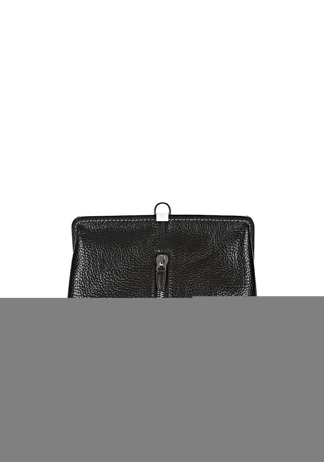 ALEXANDER WANG OPANCA CLUTCH IN BLACK WITH RHODIUM CLUTCH Adult 12_n_a