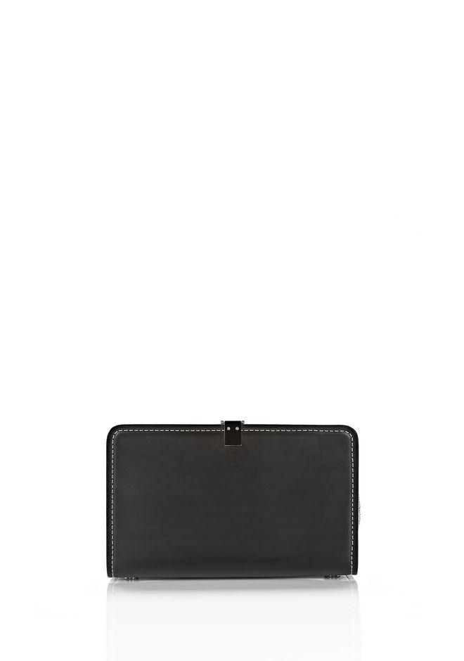 ALEXANDER WANG OPANCA CLUTCH IN BLACK WITH RHODIUM CLUTCH Adult 12_n_d
