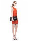 ALEXANDER WANG OPANCA CLUTCH IN BLACK WITH RHODIUM CLUTCH Adult 8_n_r