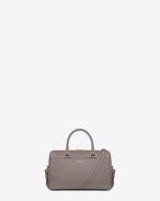 Klassische Baby Duffle Bag aus grauem Leder